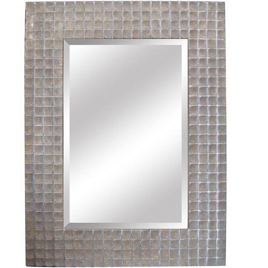 Shop Yosemite Home Decor 37-In W X 49.5-In H Silver Rectangular for Silver Rectangular Bathroom Mirrors (Image 16 of 25)
