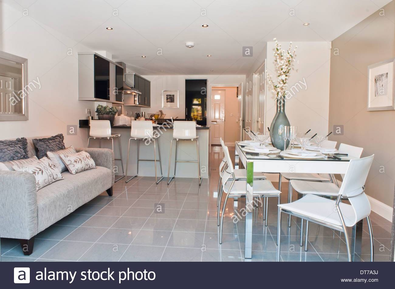 Show Home Kitchen / Diner With Sofa Stock Photo, Royalty Free inside Sofas For Kitchen Diner (Image 22 of 30)
