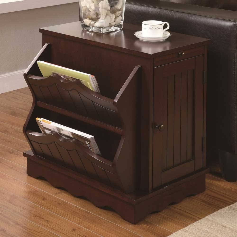 Side Table Designs For Living Room - Home Design Ideas with regard to Coffee Tables With Magazine Storage (Image 27 of 30)