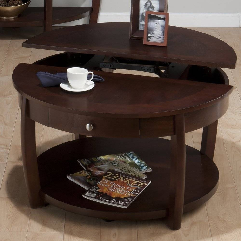 Side Table With Storage. Coffee Table Cubes Storage Coffetable with Elevating Coffee Tables (Image 27 of 30)