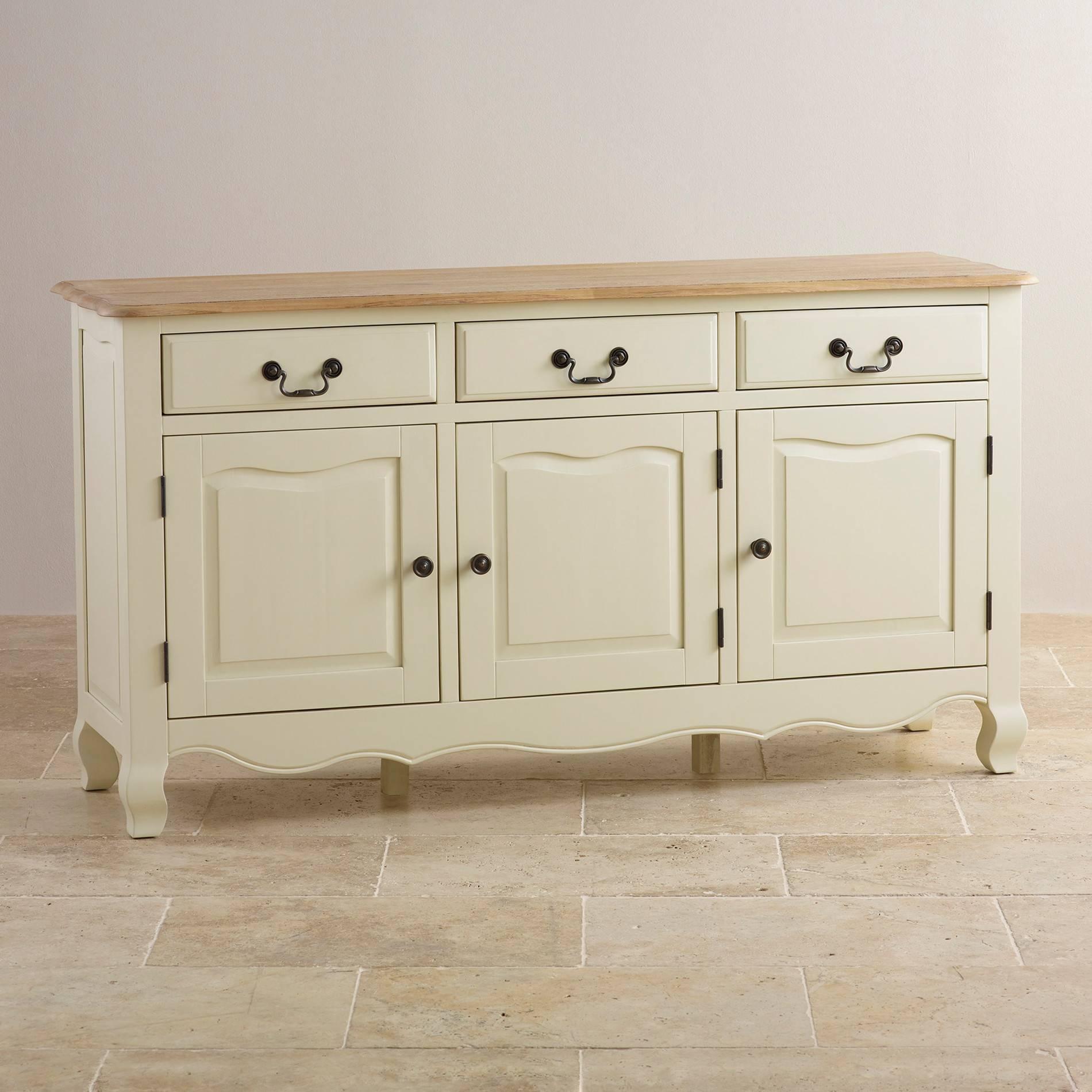 Sideboards | 100% Solid Hardwood | Oak Furniture Land inside Large White Sideboards (Image 19 of 30)