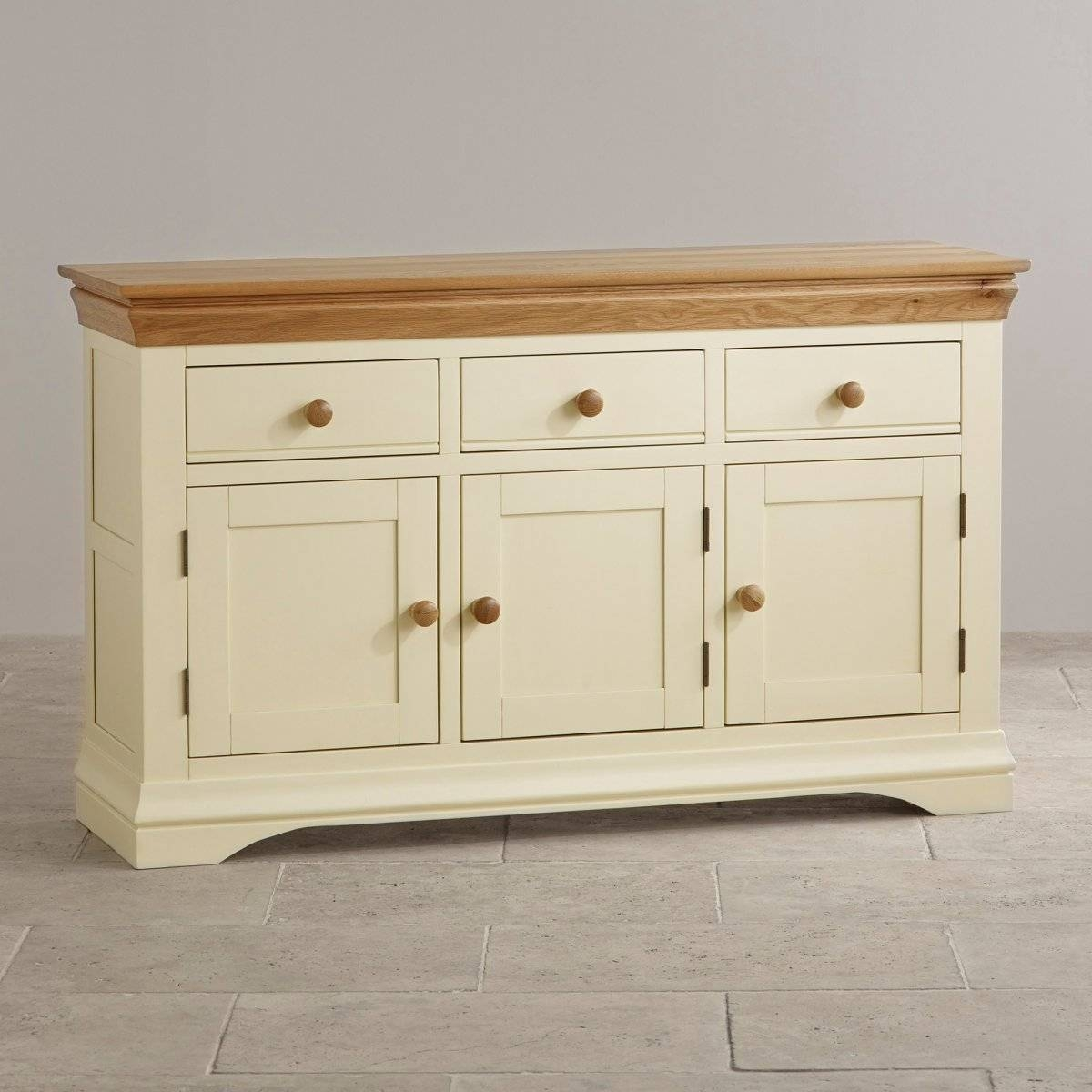 Sideboards | 100% Solid Hardwood | Oak Furniture Land intended for Light Oak Sideboards (Image 19 of 30)
