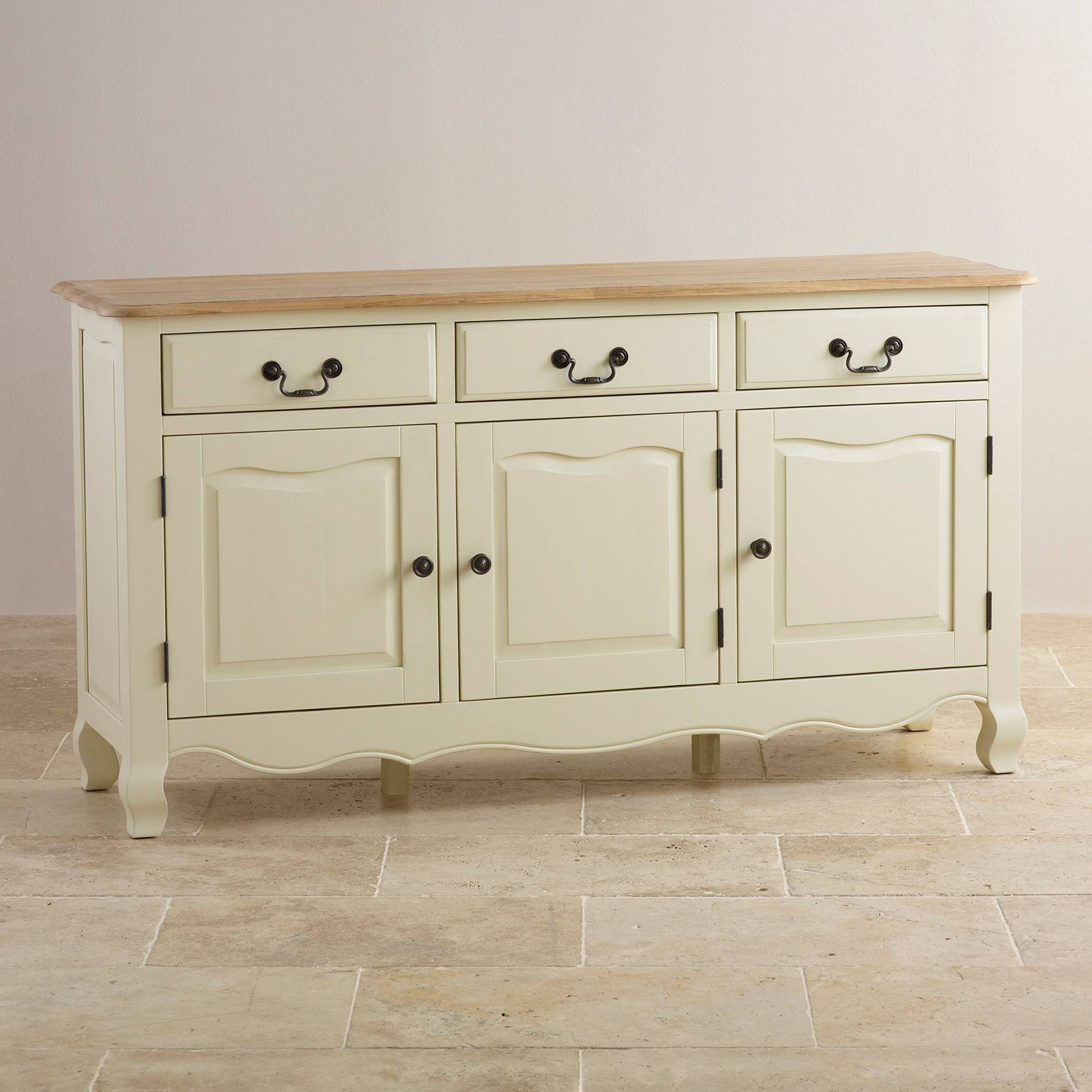 Sideboards | 100% Solid Hardwood | Oak Furniture Land with regard to White and Wood Sideboards (Image 21 of 30)
