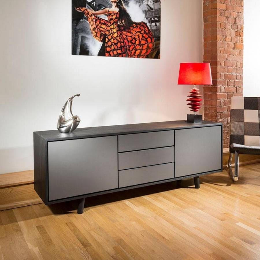 Sideboards. Amazing Black Sideboard Cabinet: Black-Sideboard inside Grey Wood Sideboards (Image 18 of 30)