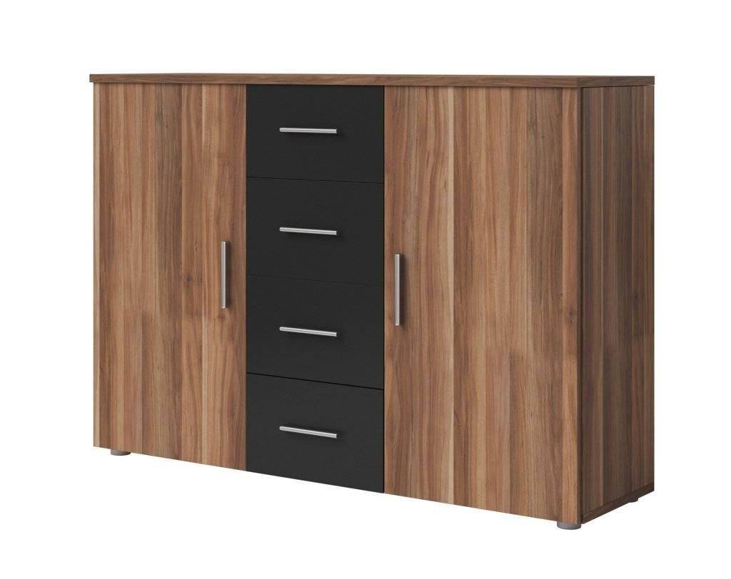 Sideboards. Amazing Black Sideboard Cabinet: Black-Sideboard intended for Large Modern Sideboards (Image 24 of 30)