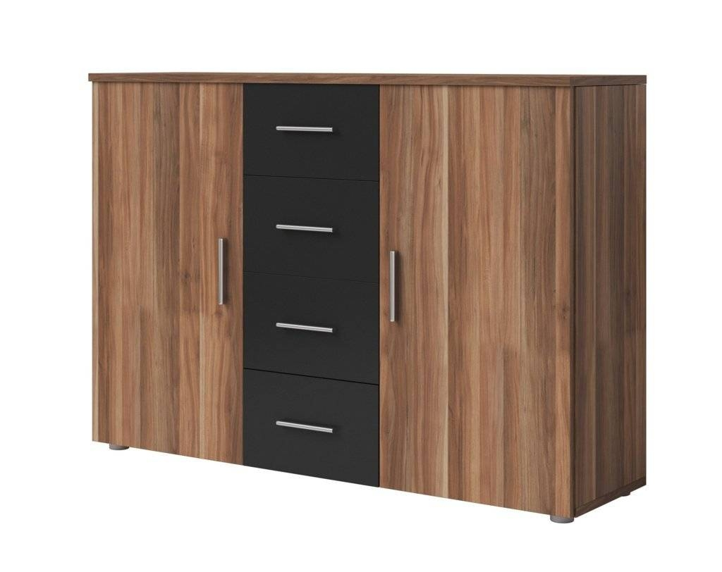 Sideboards. Amazing Black Sideboard Cabinet: Black-Sideboard pertaining to Red High Gloss Sideboards (Image 28 of 30)