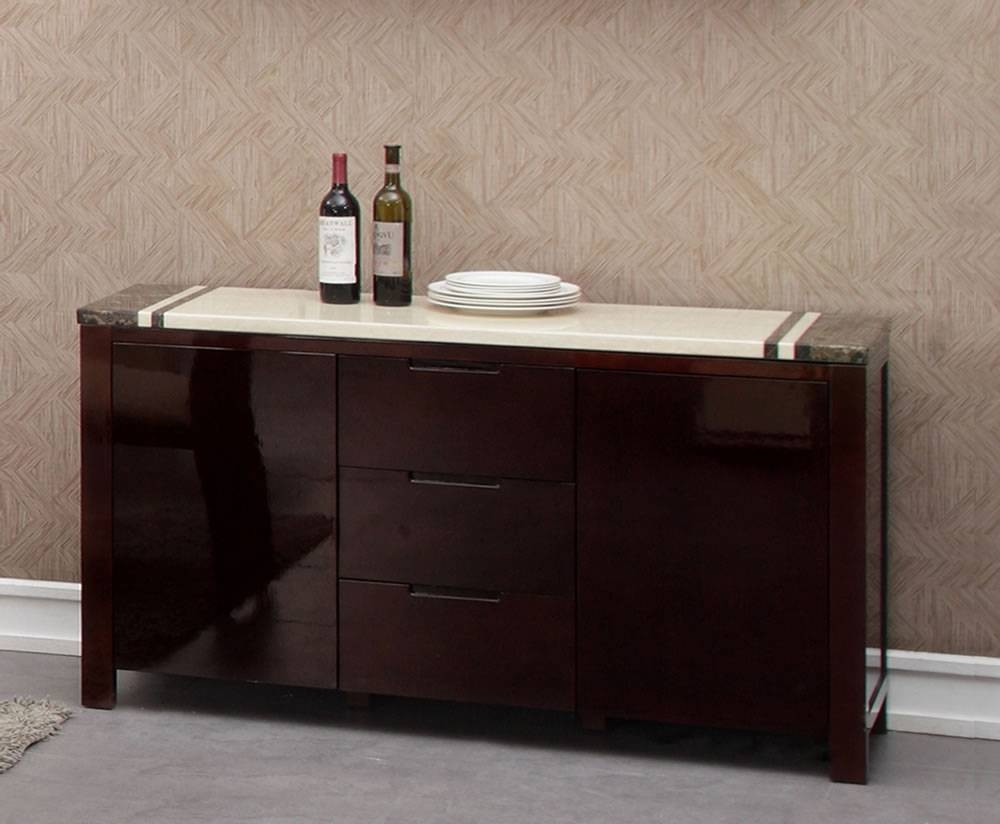 Sideboards. Amazing Buffet Credenza: Buffet-Credenza-Antique for Black Gloss Buffet Sideboards (Image 22 of 30)