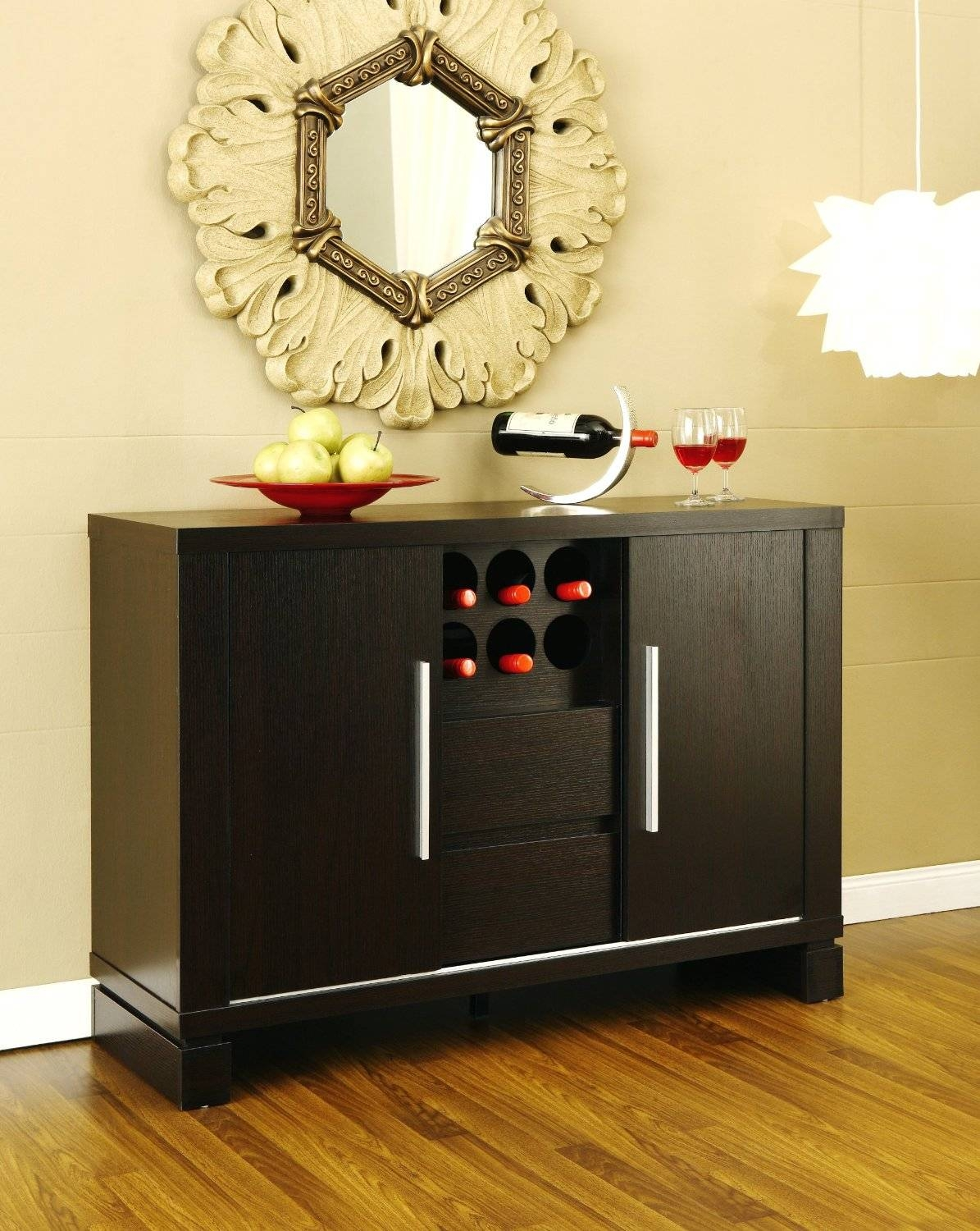 Sideboards. Amazing Buffet Credenza: Buffet-Credenza-Antique throughout Small Black Sideboards (Image 19 of 30)