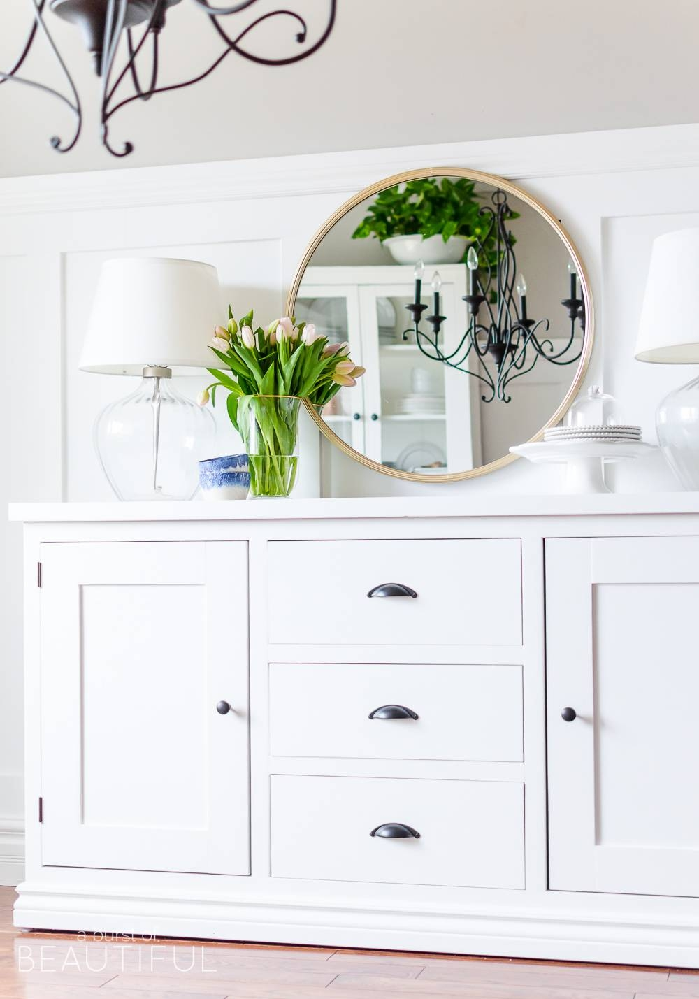 Sideboards. Amazing Farmhouse Buffet Sideboard: Farmhouse-Buffet in Contemporary White Sideboards (Image 19 of 30)