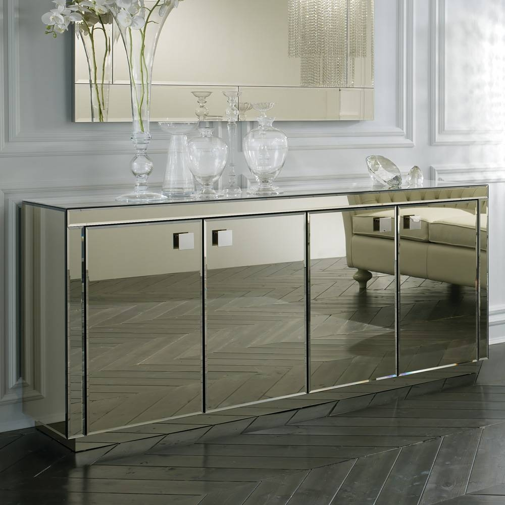 Sideboards. Amazing Mirrored Buffet: Mirrored-Buffet-Mirrored pertaining to Mirrored Sideboard Furniture (Image 14 of 30)