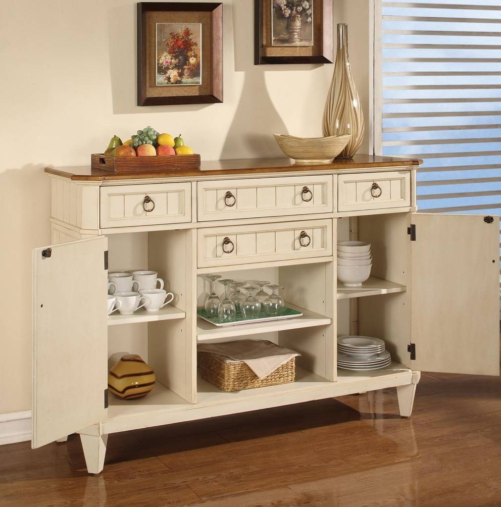 Sideboards. Amazing Oak Buffet Table: Kitchen-Buffet-Cabinets for White Kitchen Sideboards (Image 13 of 30)