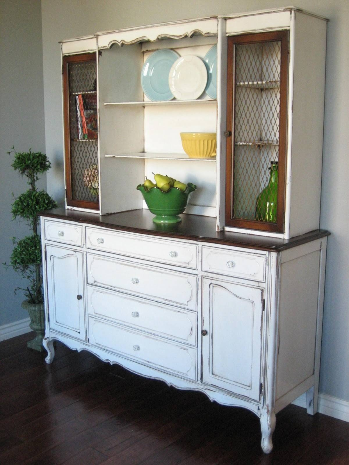 Sideboards. Amazing Rustic Buffet And Hutch: Rustic-Buffet-And intended for French Country Sideboards (Image 24 of 30)