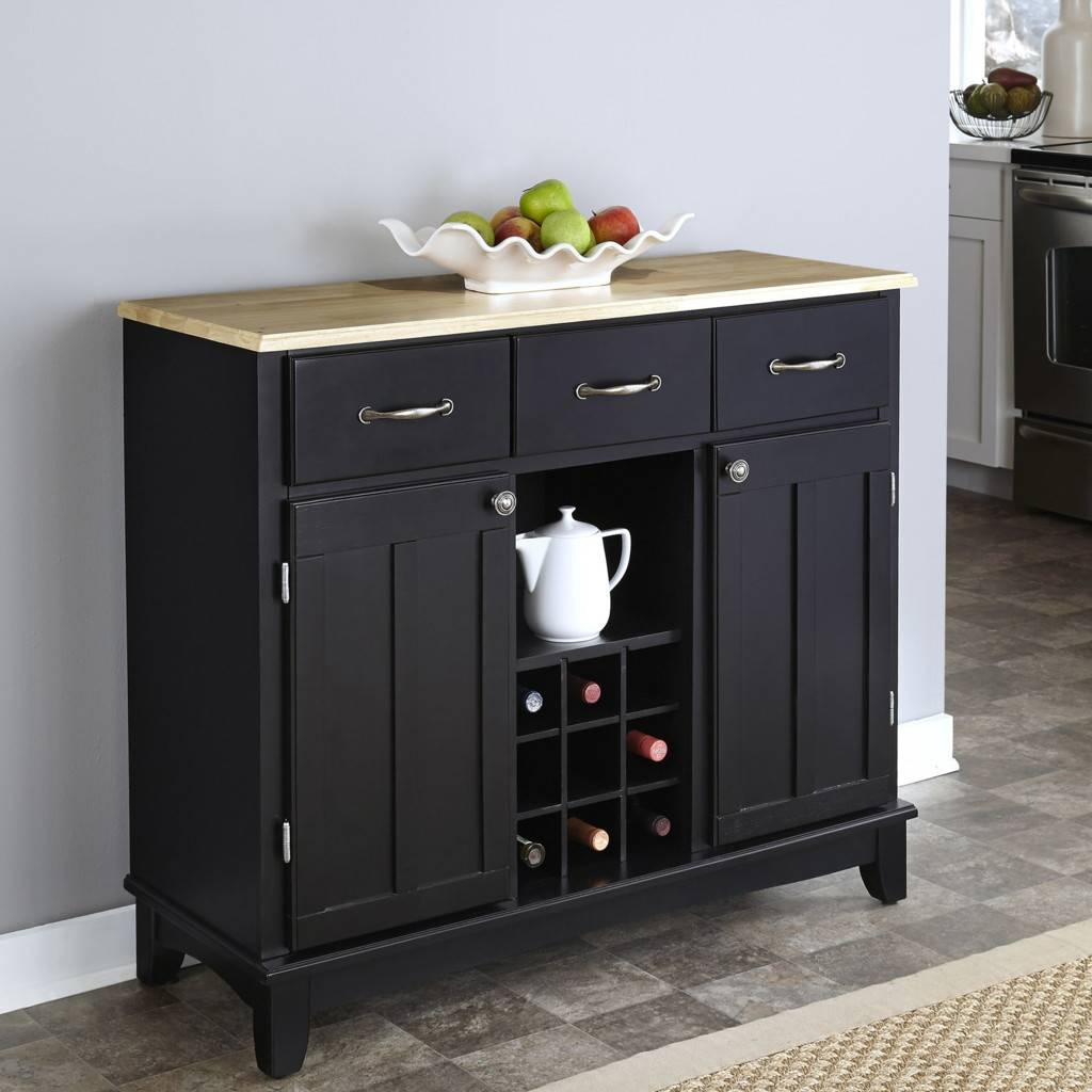 Sideboards. Amusing Black Buffet Cabinet: Black-Buffet-Cabinet with regard to Black Sideboards (Image 23 of 30)