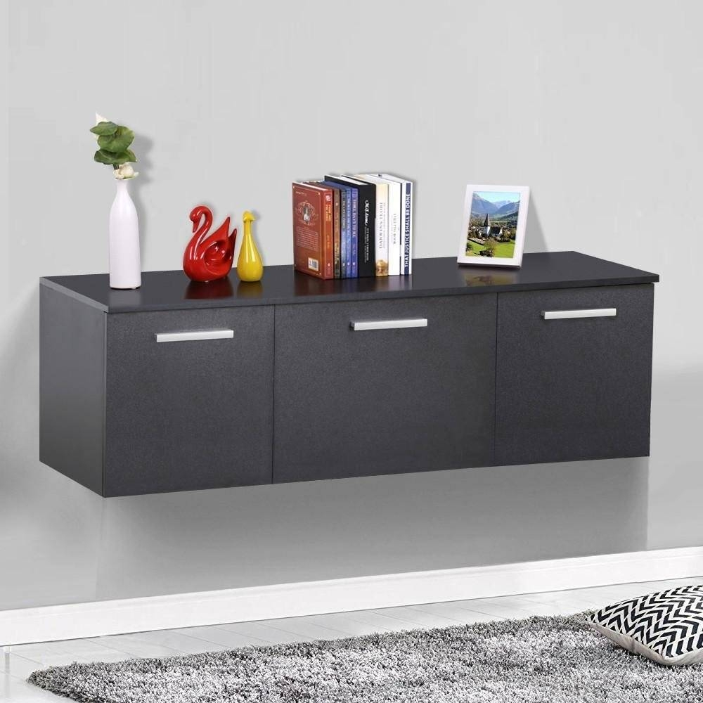 Sideboards. Amusing Black Buffet Cabinet: Black-Buffet-Cabinet with regard to Desk Sideboards (Image 23 of 30)