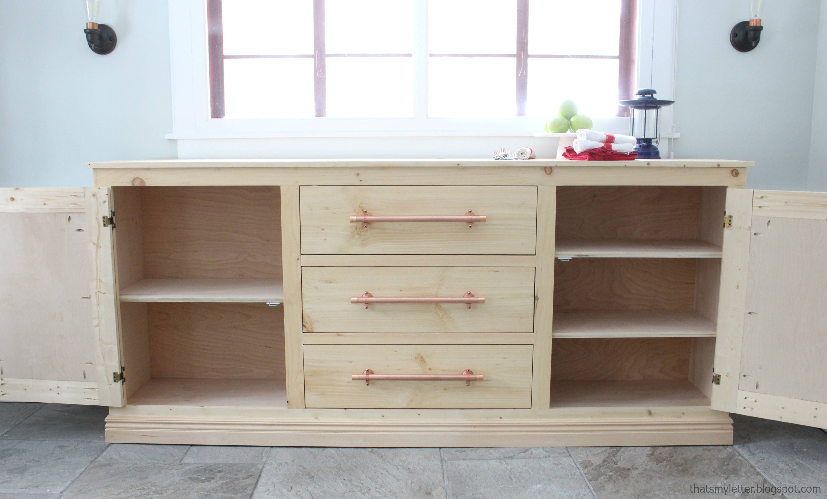 Sideboards. Amusing Buffet Table With Drawers: Buffet-Table-With in White Sideboards With Wine Rack (Image 13 of 30)