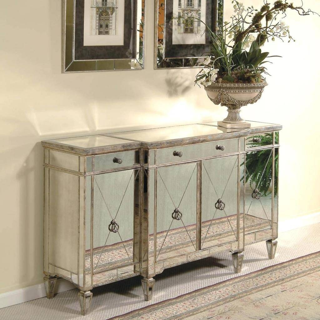 Sideboards. Amusing Mirrored Sideboard Buffet: Mirrored-Sideboard regarding White Mirrored Sideboards (Image 18 of 30)