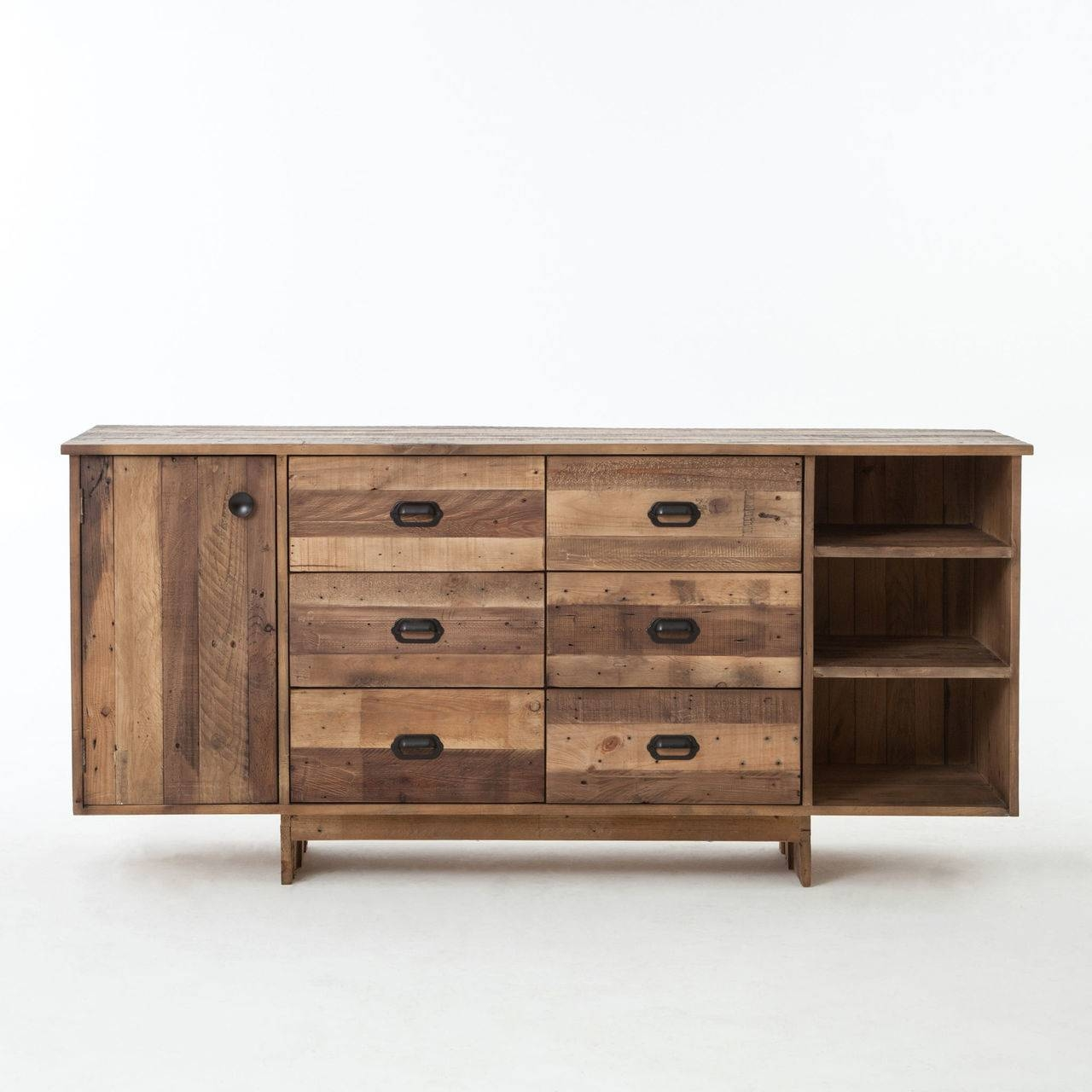 Sideboards. Amusing Solid Wood Buffet: Solid-Wood-Buffet-Amish throughout Low Sideboards (Image 21 of 30)