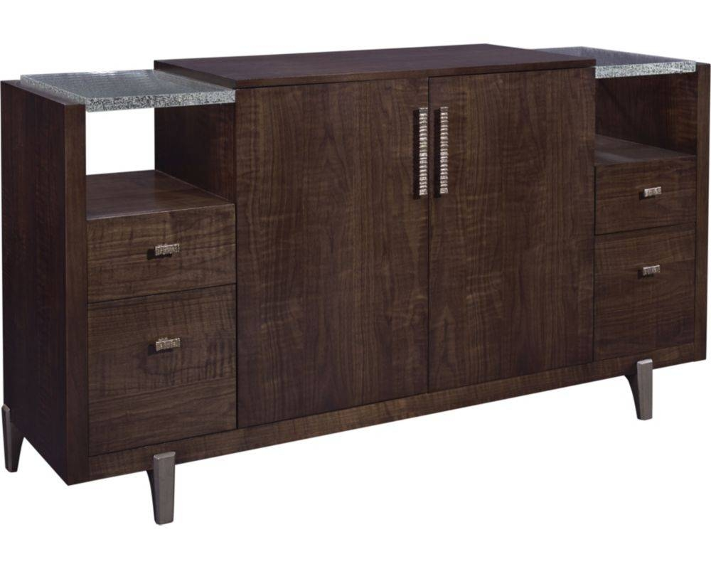 Sideboards. Amusing Solid Wood Buffet: Solid-Wood-Buffet-Craftsman intended for Black Wood Sideboards (Image 22 of 30)