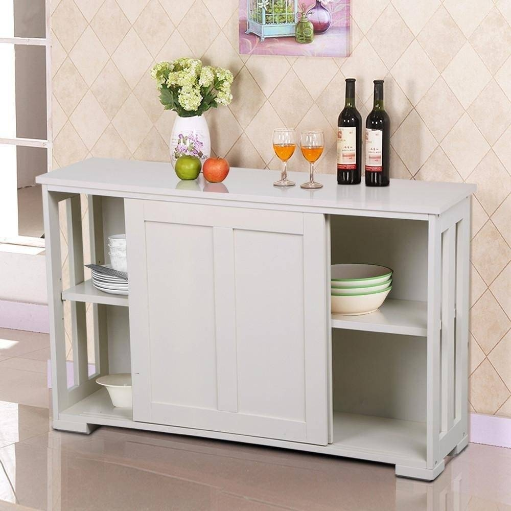 Sideboards. Amusing White Buffet Cabinet: White-Buffet-Cabinet with White Kitchen Sideboards (Image 14 of 30)