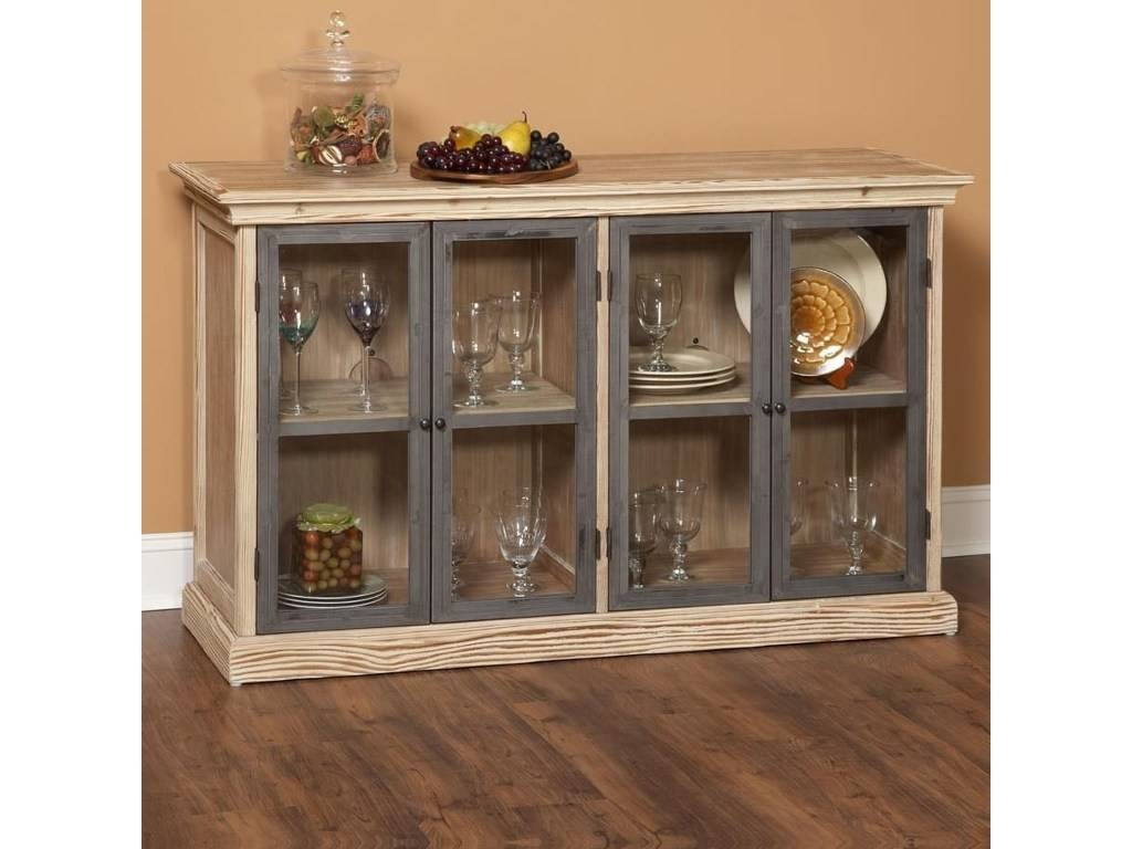 Sideboards: Astonishing Glass Door Buffet Glass Buffet Server with Sideboards With Glass Doors (Image 30 of 30)
