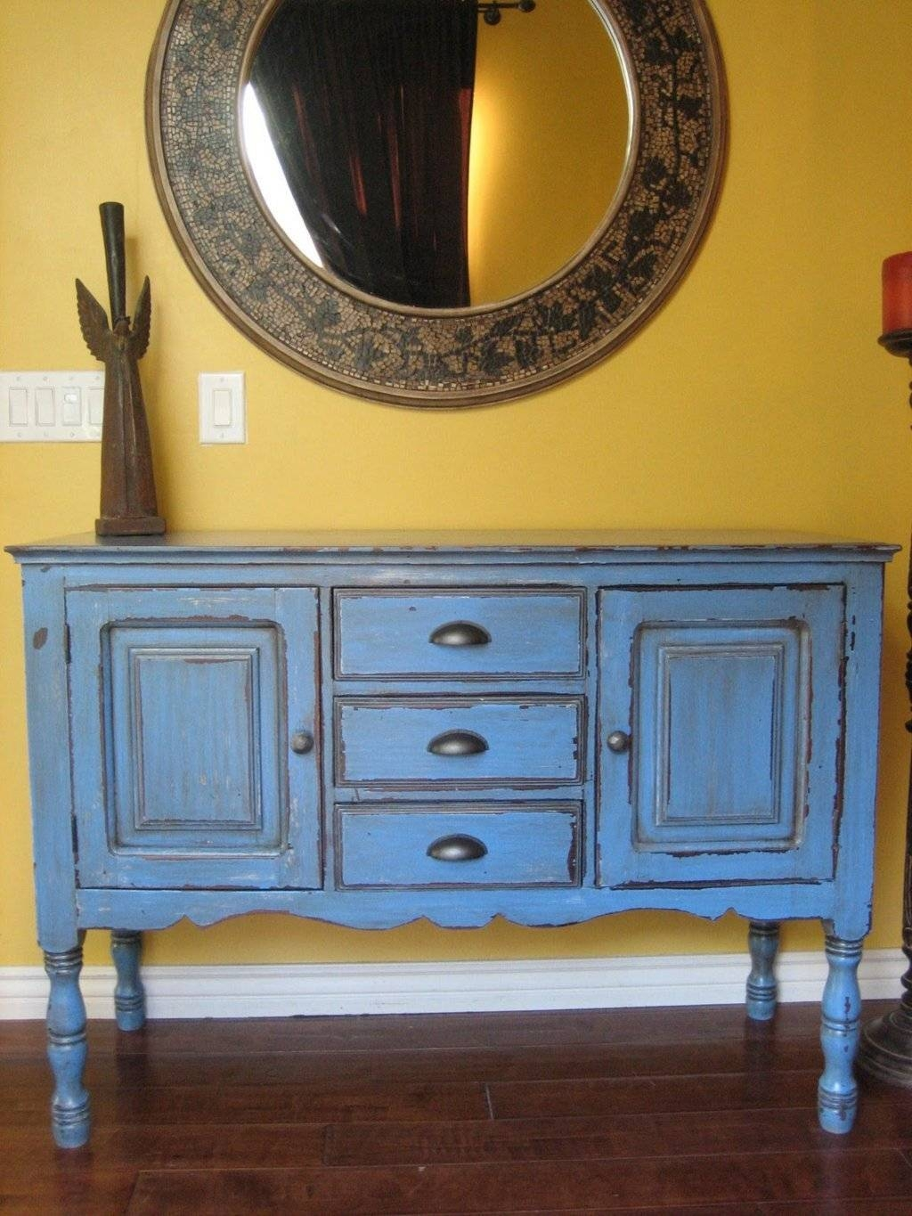 Sideboards. Astonishing Painted Sideboards And Buffets: Painted pertaining to Curved Sideboards (Image 17 of 30)