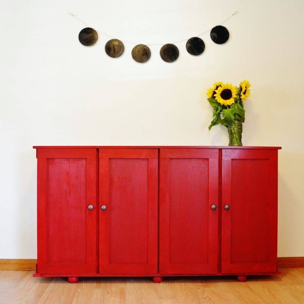 Sideboards. Astonishing Red Buffet Cabinet: Red-Buffet-Cabinet-Red in Red Sideboards (Image 23 of 30)