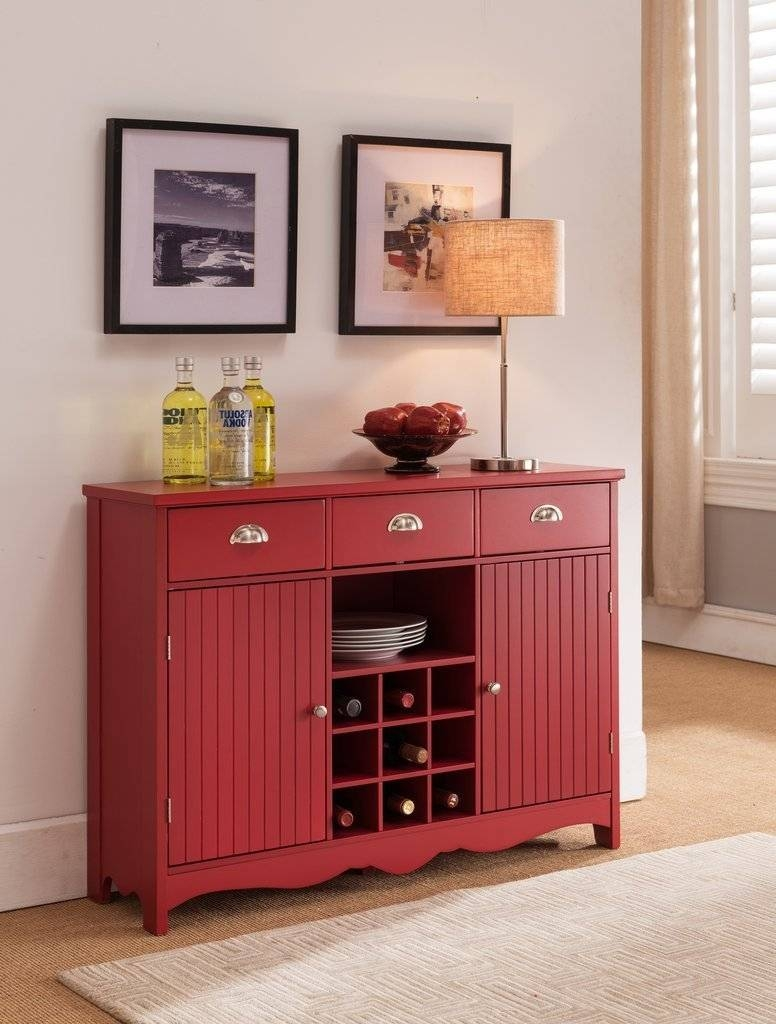 Sideboards. Astonishing Red Buffet Cabinet: Red-Buffet-Cabinet-Red inside Red Sideboards (Image 25 of 30)