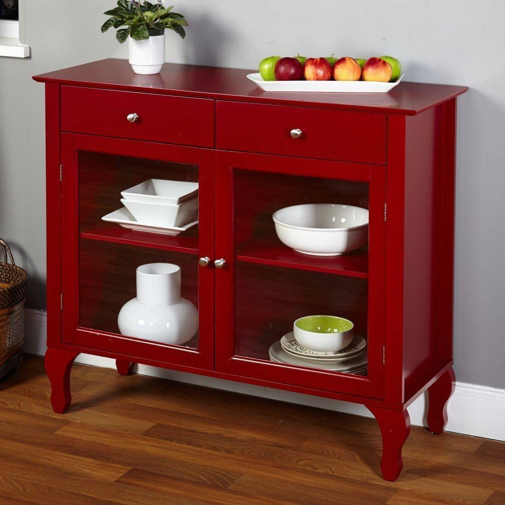 Sideboards. Astonishing Red Buffet Cabinet: Red-Buffet-Cabinet-Red inside Red Sideboards (Image 24 of 30)