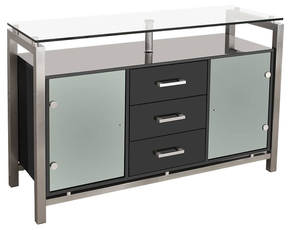 Sideboards. Astonishing Sideboard Cabinet With Glass Doors inside Black Gloss Buffet Sideboards (Image 24 of 30)