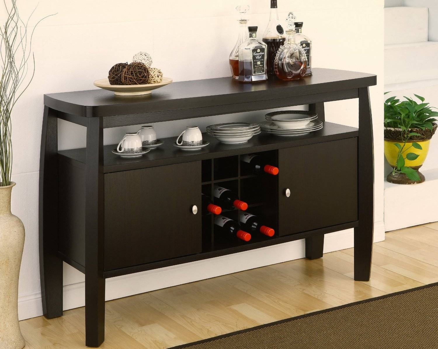 Sideboards: Astonishing Wood Buffets Credenzas & Sideboards with regard to Dark Sideboards (Image 20 of 30)