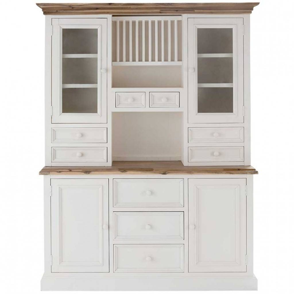 Sideboards. Astounding Buffet Hutch Ideas: Buffet-Hutch-Kitchen with Large White Sideboards (Image 25 of 30)