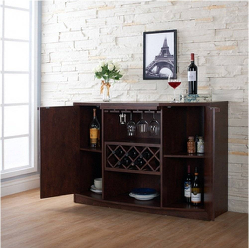 Sideboards. Astounding Buffet Hutch With Wine Rack: Buffet-Hutch for Glass Sideboards (Image 25 of 30)
