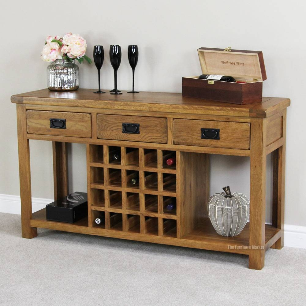 Sideboards. Astounding Buffet Table With Wine Rack: Buffet-Table throughout Rustic Sideboards (Image 21 of 30)