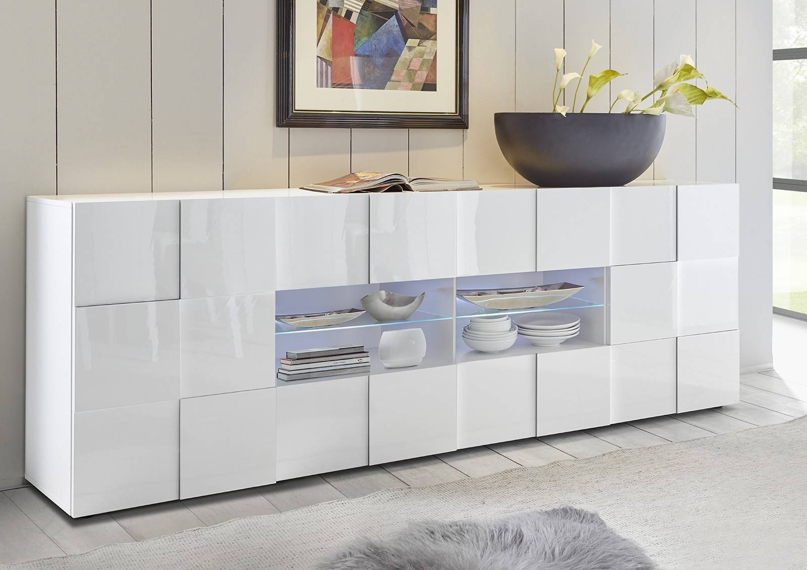 Sideboards. Astounding Cheap White High Gloss Sideboard: Cheap with Cheap White High Gloss Sideboards (Image 23 of 30)