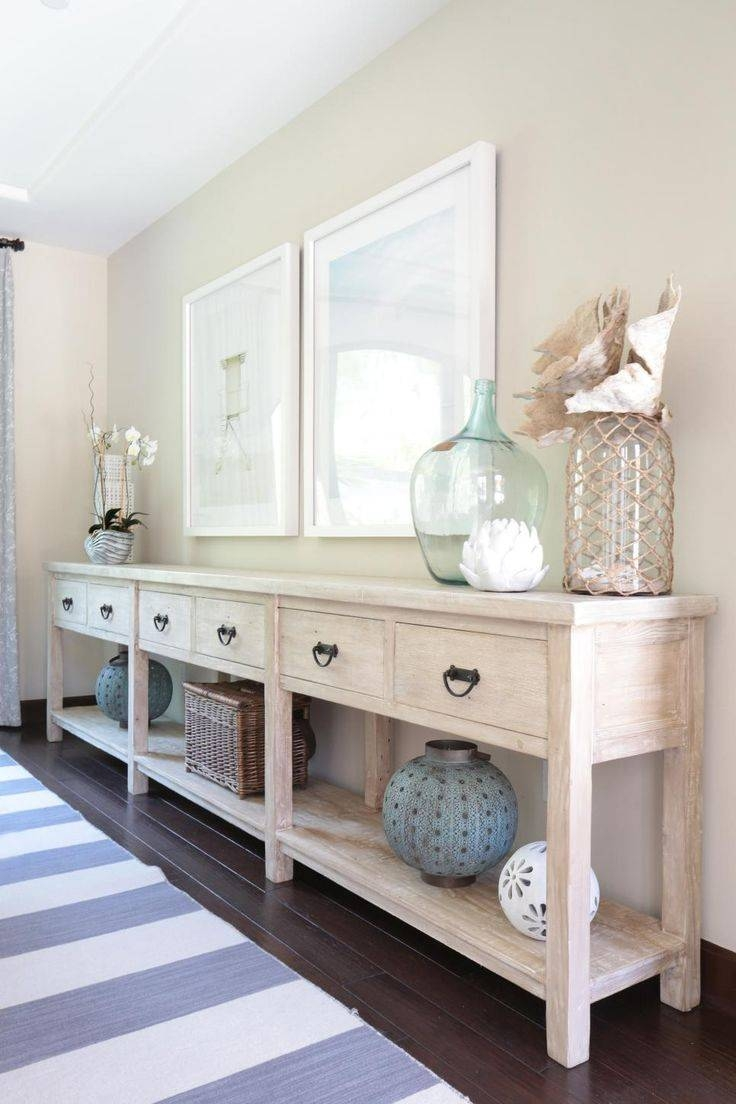 Sideboards. Astounding Long Narrow Buffet Table: Long-Narrow inside Large White Sideboards (Image 26 of 30)