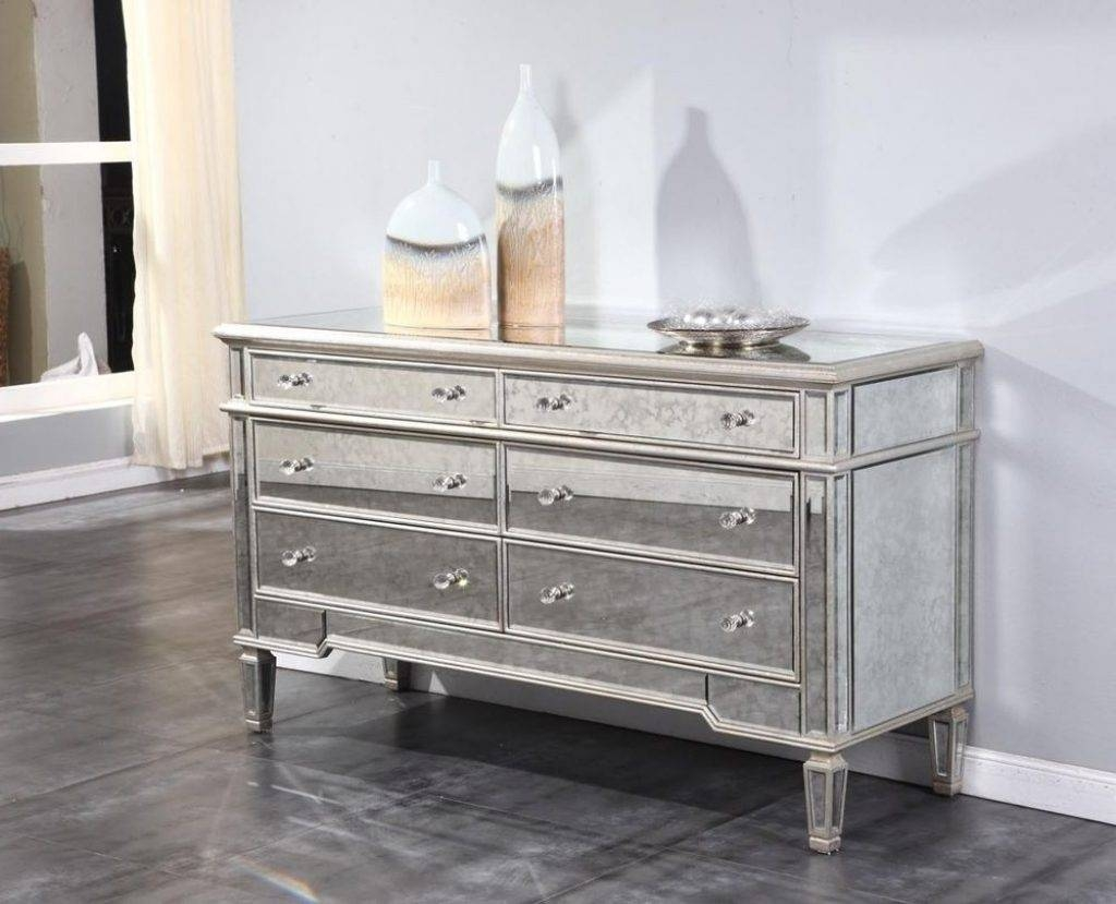 Sideboards. Astounding Mirrored Buffet Cabinet: Mirrored-Buffet for Small Mirrored Sideboards (Image 17 of 30)