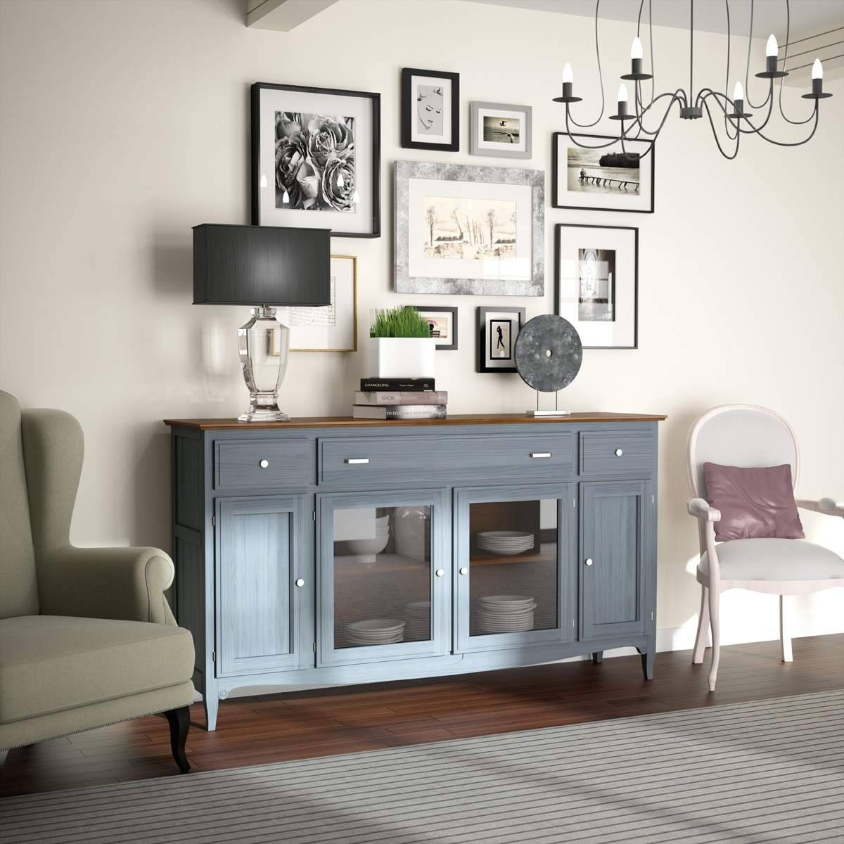 Sideboards. Astounding Mirrored Buffet Cabinet: Mirrored-Buffet regarding Small Mirrored Sideboards (Image 18 of 30)