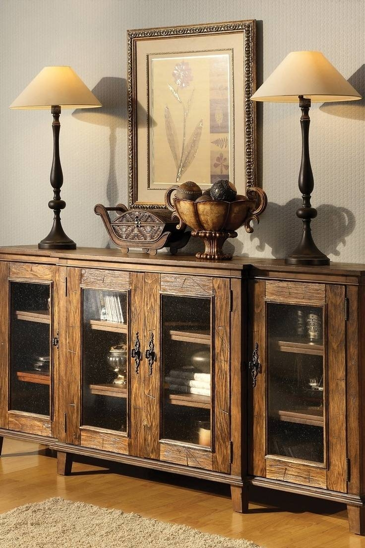 Sideboards. Astounding Sideboard Rustic: Sideboard-Rustic-Rustic with Small Dark Wood Sideboards (Image 15 of 30)