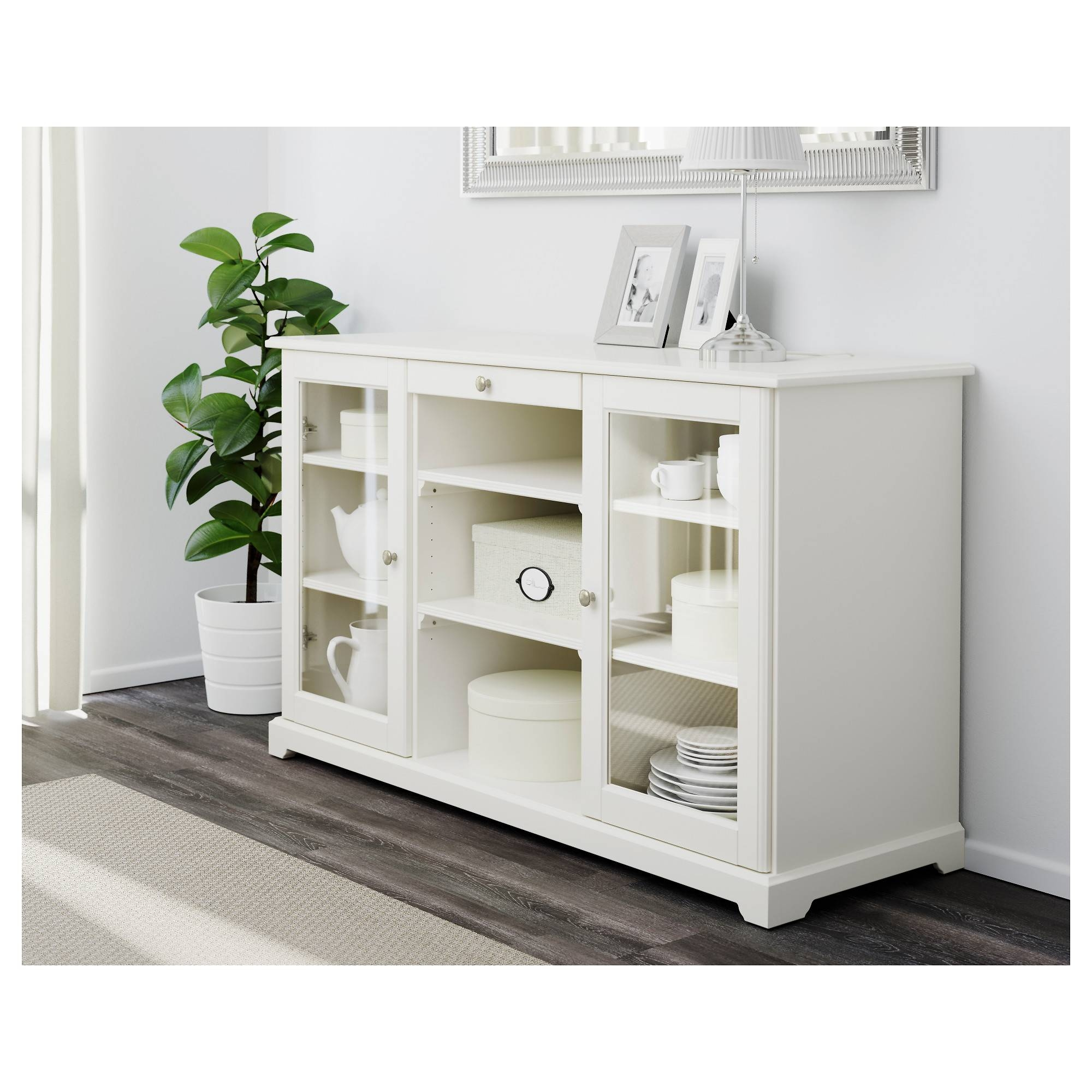 Sideboards. Astounding Small Sideboard: Small-Sideboard-Modern with Contemporary White Sideboards (Image 22 of 30)