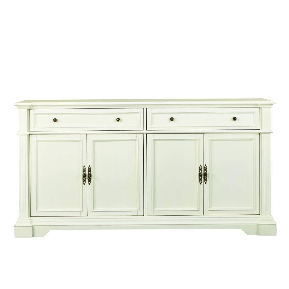 Sideboards & Buffets - Kitchen & Dining Room Furniture - The Home for White Glass Sideboards (Image 16 of 30)