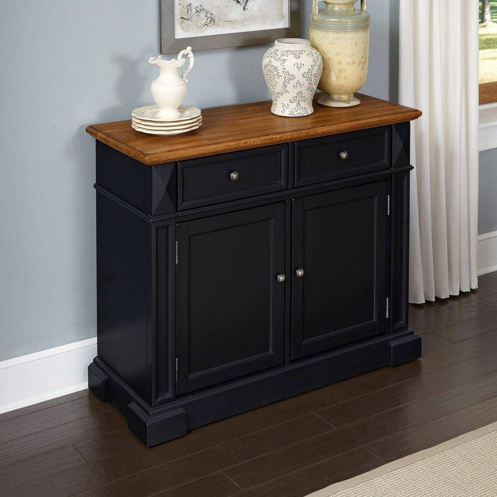 Sideboards & Buffets - Kitchen & Dining Room Furniture - The Home with Black And Walnut Sideboards (Image 27 of 30)