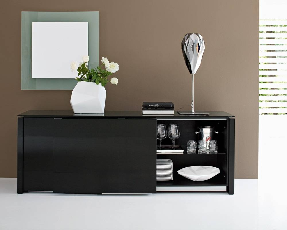 Sideboards. Extraordinary Black Dining Room Buffet: Black-Dining within Black Sideboards (Image 25 of 30)