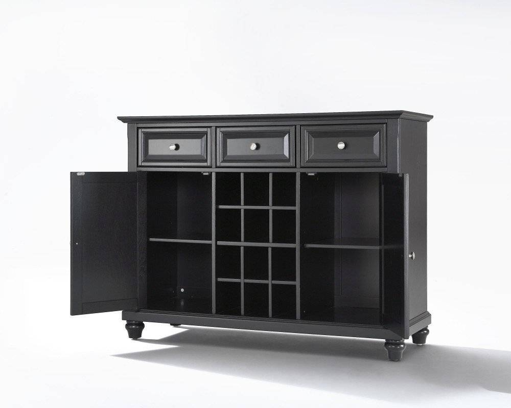 Sideboards. Extraordinary Black Wine Cabinet Buffet: Black-Wine with regard to White Sideboards With Wine Rack (Image 20 of 30)