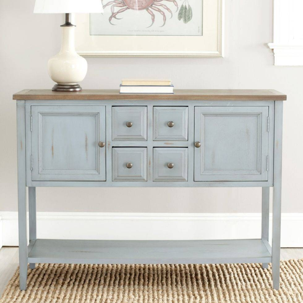 Sideboards. Extraordinary Distressed Buffet Sideboard: Distressed throughout Tall Sideboards (Image 21 of 30)