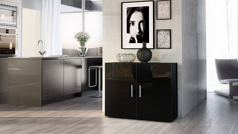 Sideboards. Glamorous Black Sideboard Table: Black-Sideboard-Table intended for Black Gloss Buffet Sideboards (Image 29 of 30)