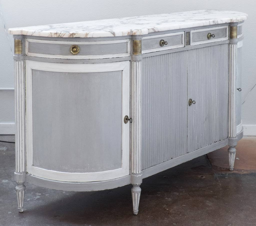 Sideboards. Glamorous Marble Top Buffet: Marble-Top-Buffet-Granite with Curved Sideboards (Image 20 of 30)