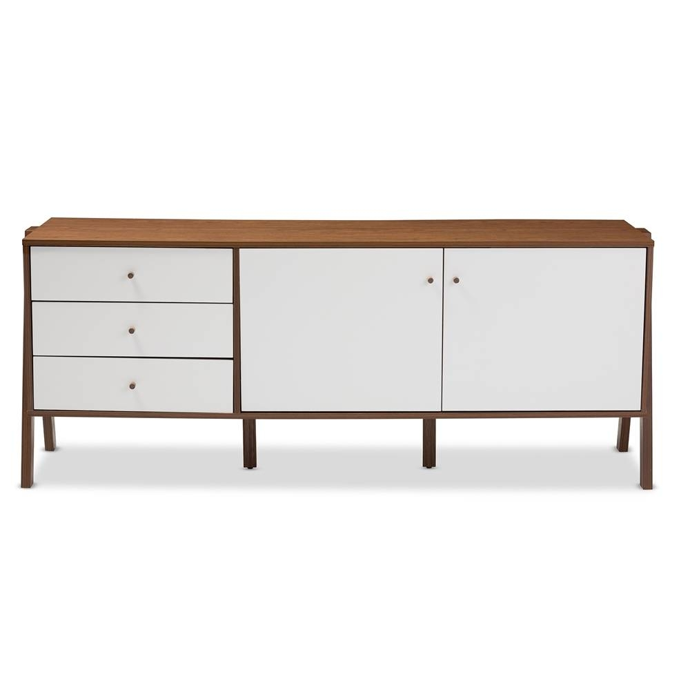 Sideboards: Glamorous Sideboard Storage Cabinet Buffet Cabinet with White and Wood Sideboards (Image 28 of 30)