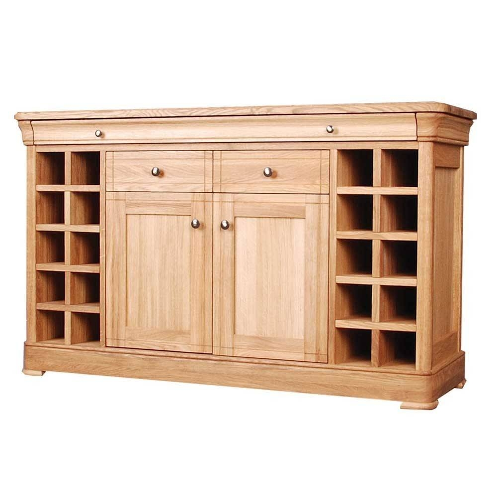 Sideboards. Glamorous Sideboard With Wine Storage: Sideboard-With pertaining to Oak Sideboards With Wine Rack (Image 21 of 30)