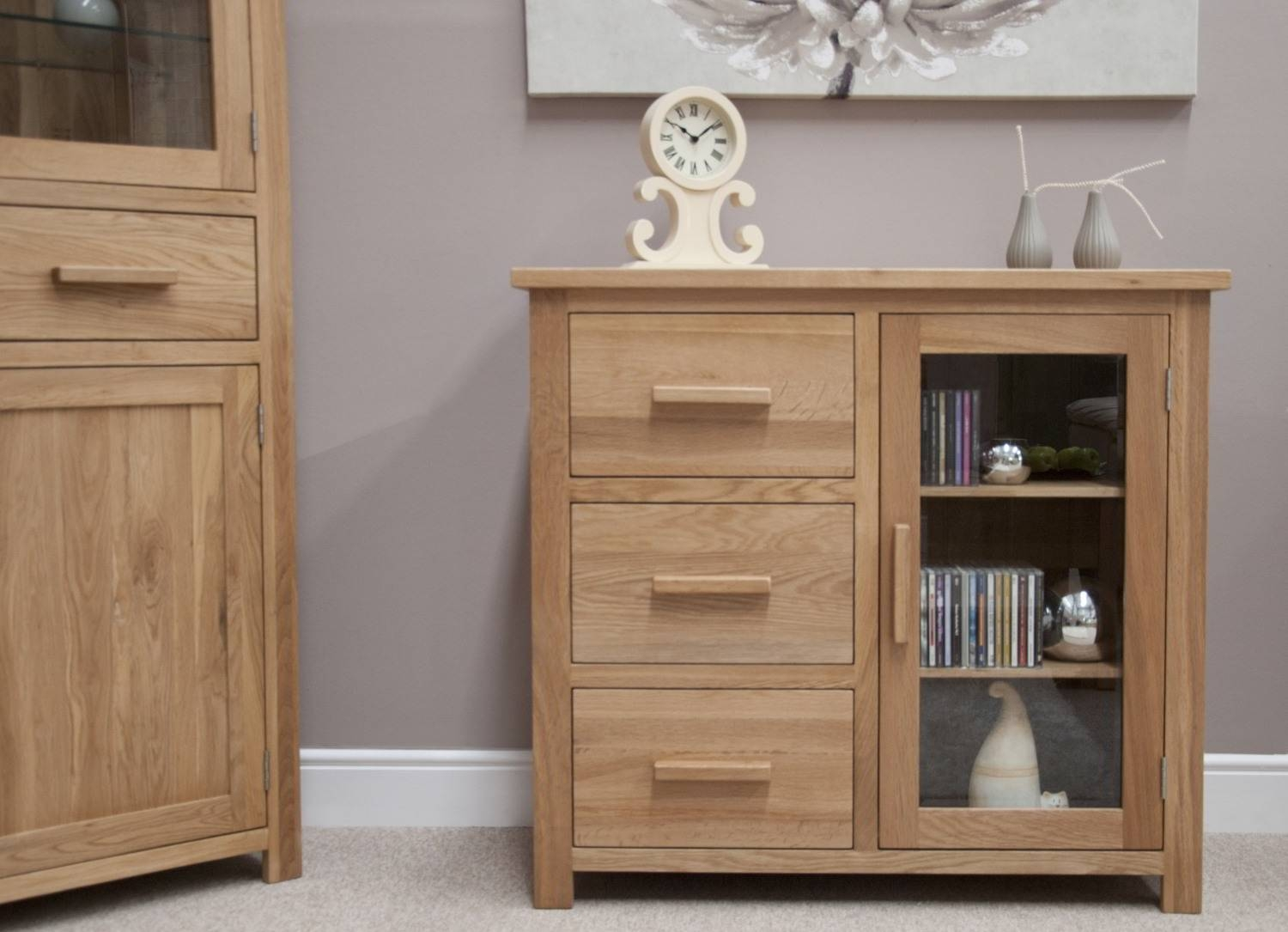 Sideboards: Glamorous Small Sideboard Cabinet Accent Sideboard in Narrow Oak Sideboards (Image 25 of 30)
