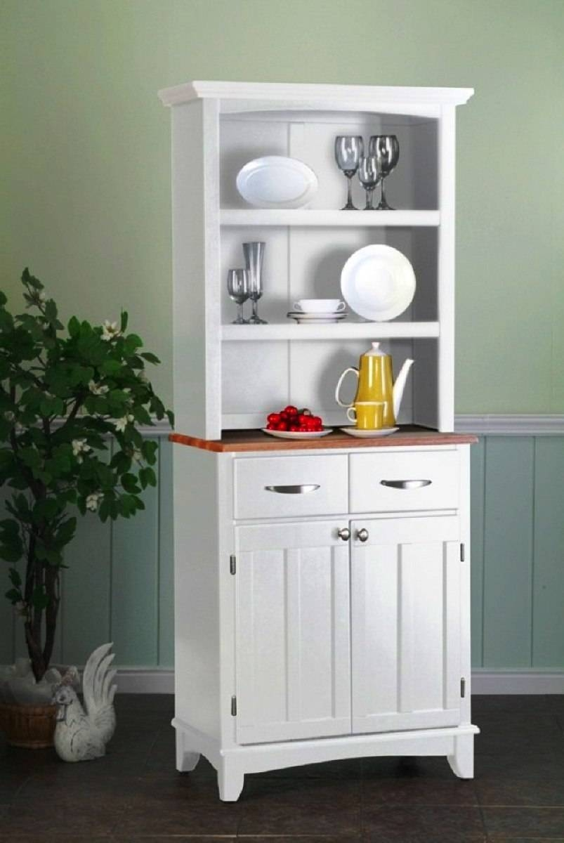 Sideboards. Glamorous White Kitchen Hutch Cabinet: White-Kitchen within White Kitchen Sideboards (Image 18 of 30)